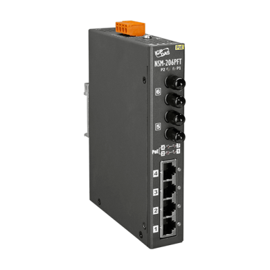 泓格PoE(PSE)以太網絡交換器帶2端口光纖:NSM-206PF系列
