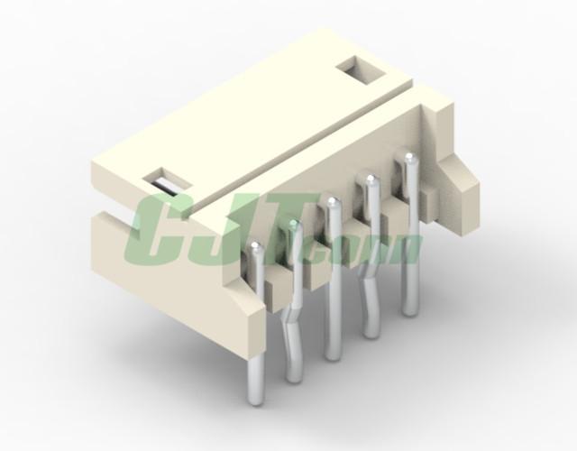 90度 DIP针座ZH1.5-4P WR 线对板连接器 白色