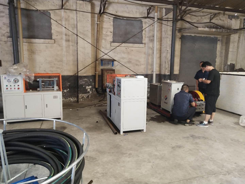 配套钢丝胶管编织机胶管吐芯试压台试压泵